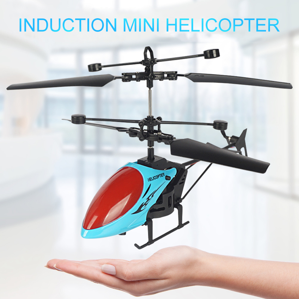 2.5 channel Induction Helicopter Children's Luminous Induction Aircraft Toy Mini controlled Aircraft|RC Helicopters| |  - title=