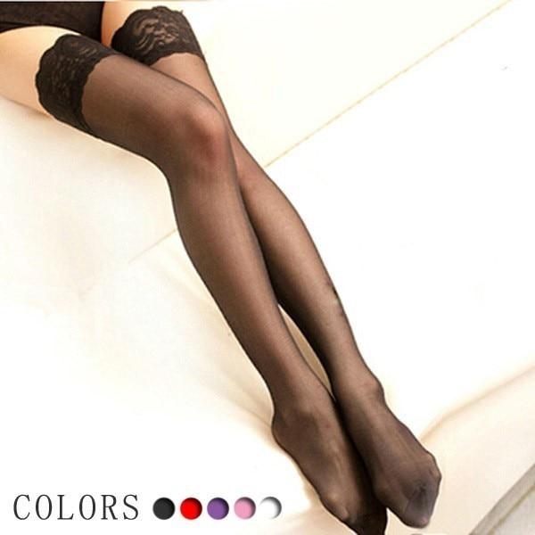 Women's Stockings Sexy Stockings Thigh High  Harajuku Transparent Calze Autoreggenti Sexy White Stockings  Are Shiny