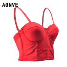 Aonve Sexy Corset Bra Tops Women White Red Bustiers Mesh Light Korse Female Black Gothic Korset Mujer Overbust Corsets S 2XL