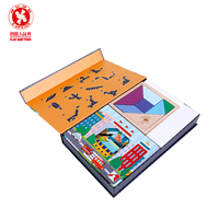 Creative geometry toys tangram wooden toys Jigsaw puzzle learning toys for children boys and girls early education toys
