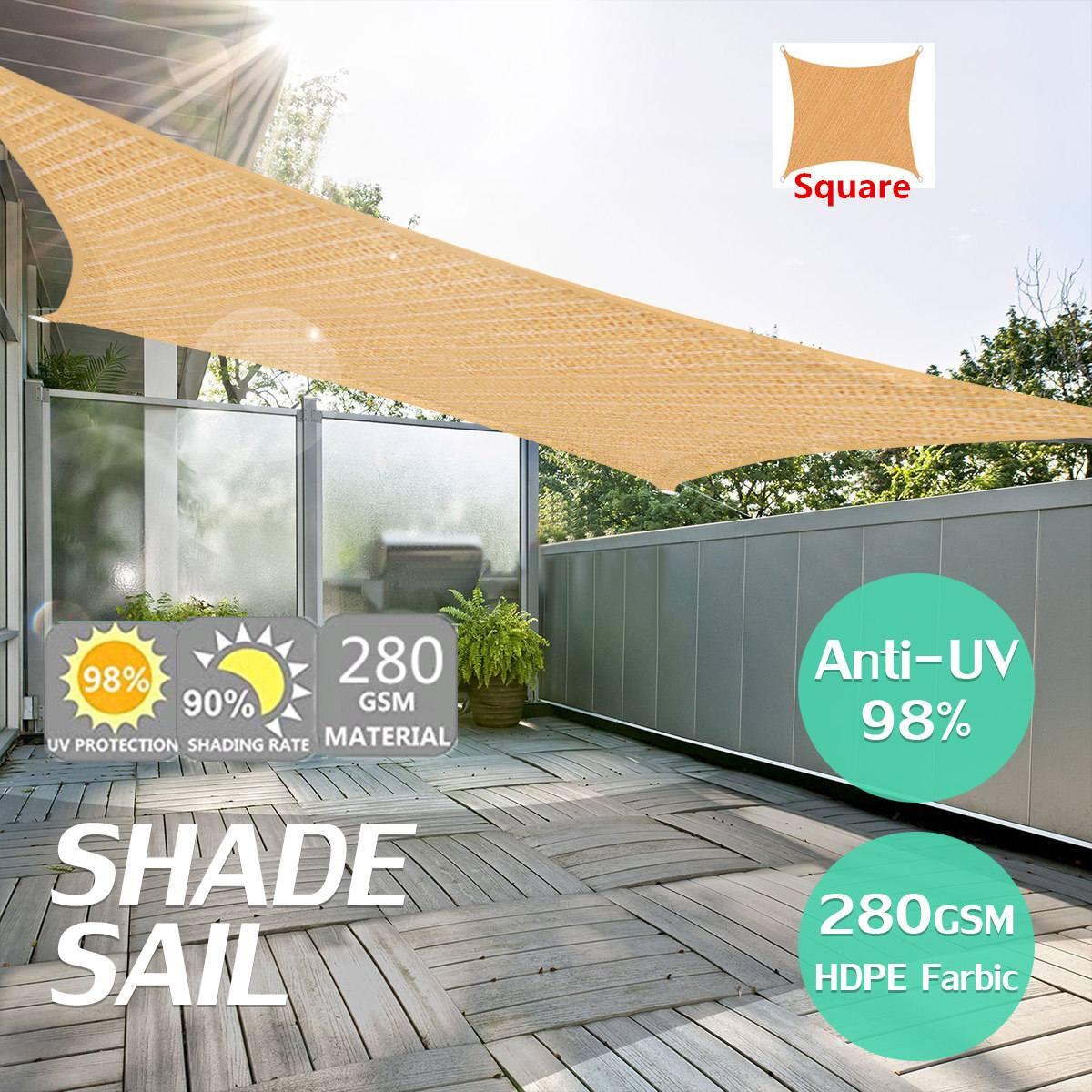 Parasol Protector de Malla Transpirable de protecci/ón contra el Sol con Polietileno M X Pa/ño de Sombra tama/ño 19 Tama/ño : 2x1m