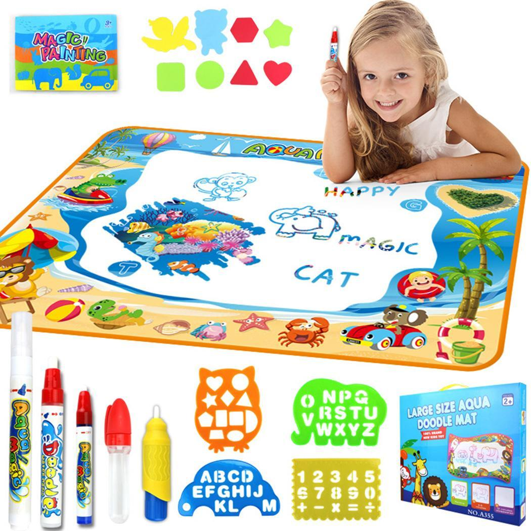 Children's Educational Multi-function Water Drawing Color Graffiti Carpet Blanket Toys Kit Over 3 Years Old