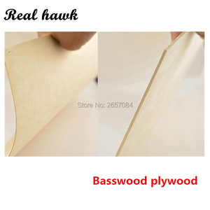 Image 2 - 297x210x1/1.5/2/3/4/5/6mm super quality Aviation model layer board basswood plywood plank DIY wood model materials