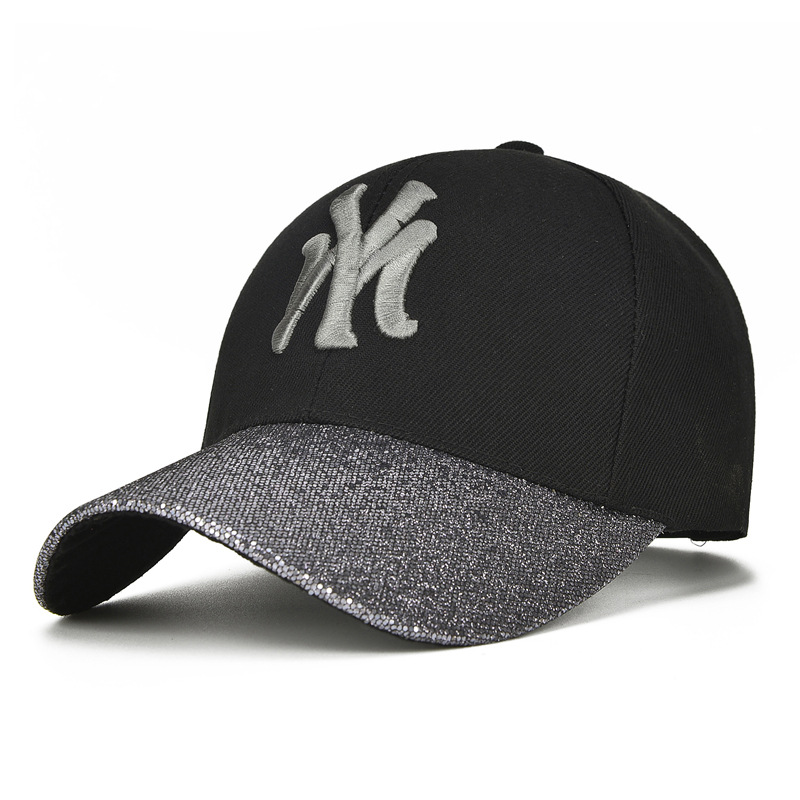 2019 New Embroidery Baseball Cap Men Women Spring And Summer Sequin Curved Hats Spring Fashion Caps Adjustable Hip Hop Golf Hats