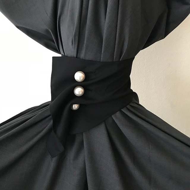 9f3006b813 TWOTWINSTYLE Fashion Wide Waistband Female High Waist Pearls Plaid Corset  For Women Irregular Accessories 2018 Autumn