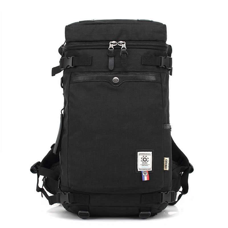 Новый OZUKO многофункциональный, вместительный рюкзак мужской и женский студенты молния открытый путешествия