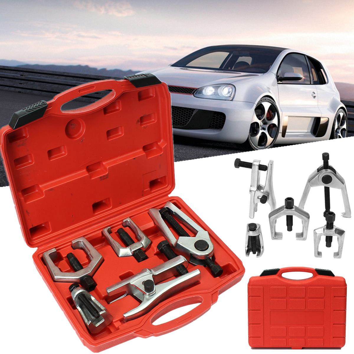 цена на 5 in 1 Front End Service Tool Kit Ball Joint Tie Rod Pitman Arm Puller Removers Press Type Ball Joint Separator Car Repair Tools
