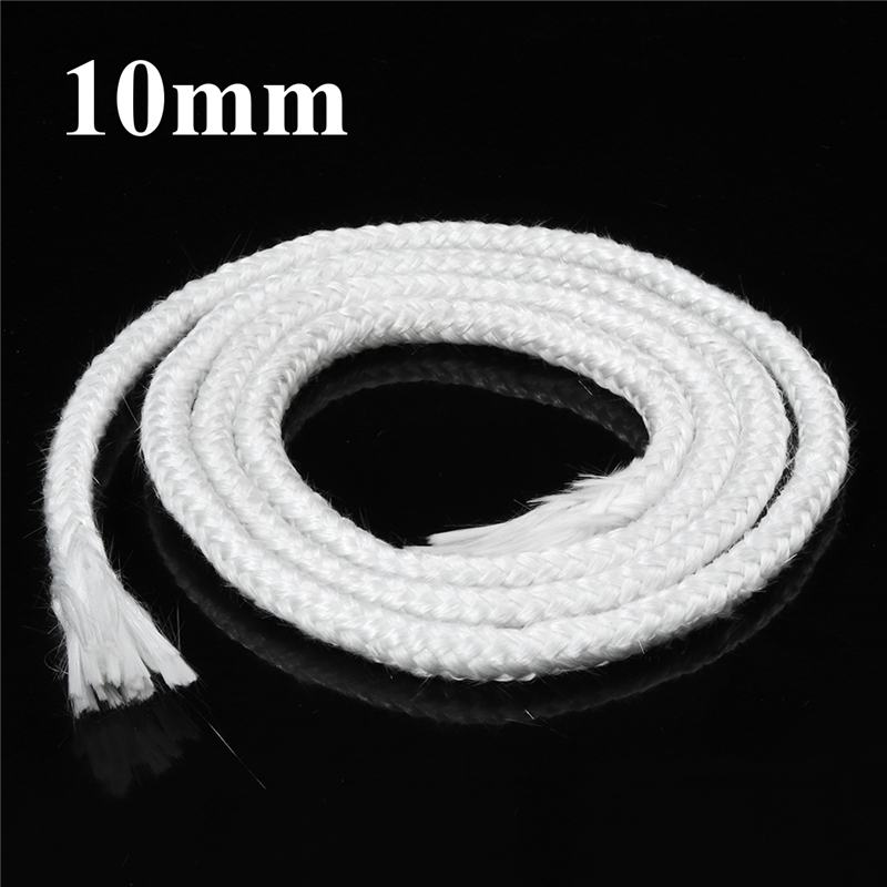1m Cotton Round Wick 10mm Alkali Free Glass Fiber Rope Smokeless Green Rope Alcohol Lamp Wick Rope