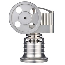 Model Building Kits Vertical Type Metal Hot Air Stirling Engine Motor Model With Alcohol Burner Kids Early Development Toys