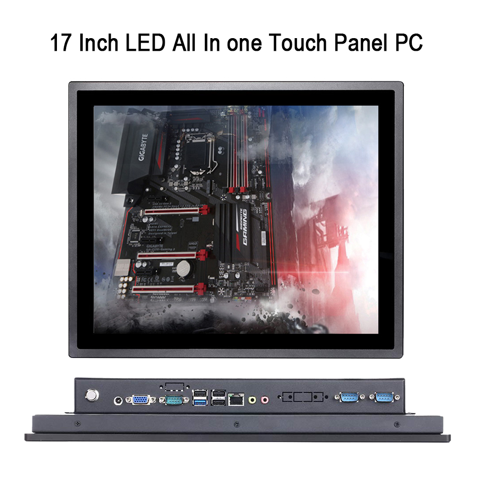 17 Inch IP65 Industrial Touch Panel PC,All In One Computer,10 Points Capacitive TS,Windows 7/10,Linux,Intel 3855U,[HUNSN DA16W]