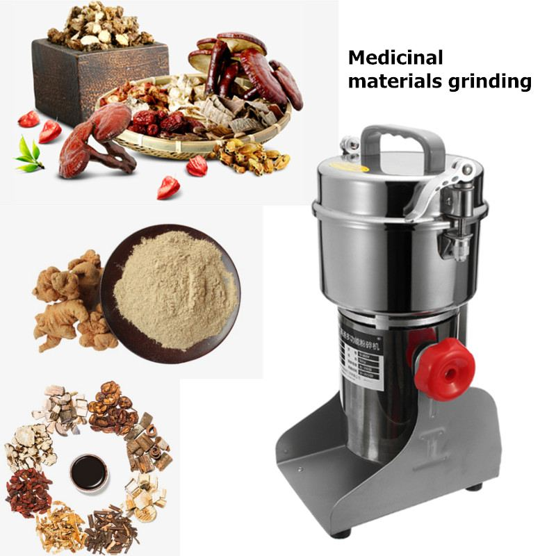 800g Household Grains Spices Hebal Cereals Coffee Dry Food Grinder Mill Grinding Machine Gristmill Medicine Flour Powder Crusher spices grinder machine