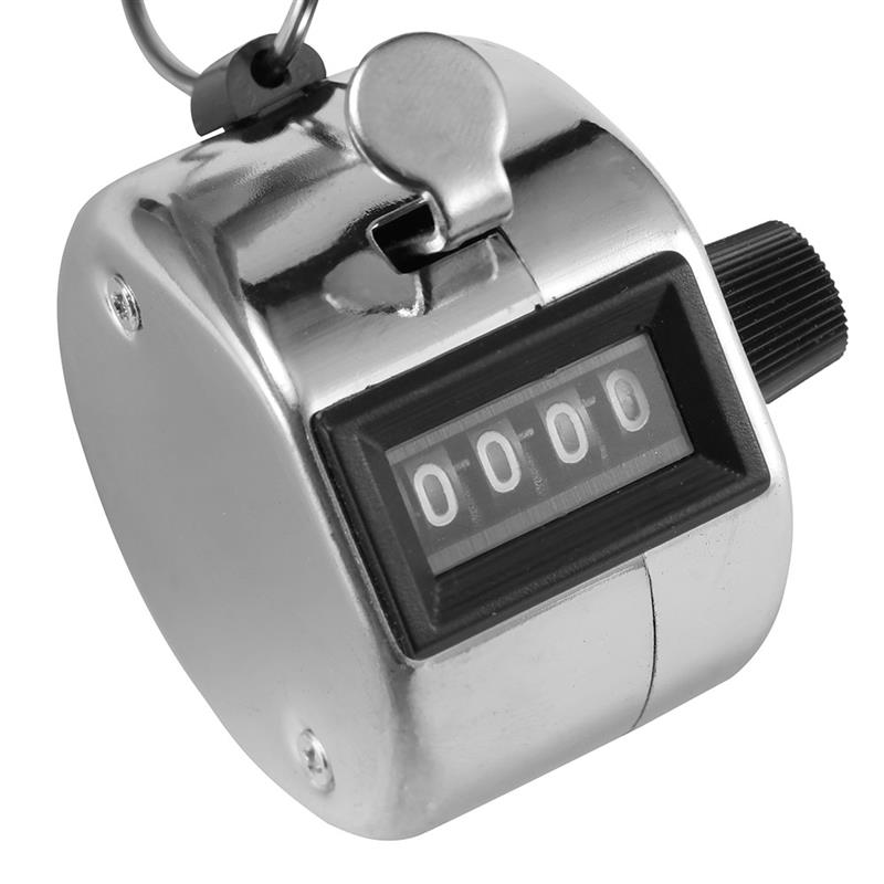 4 Digit LCD Mechanical Hand Tally Number Counter Clicker Counting Manual