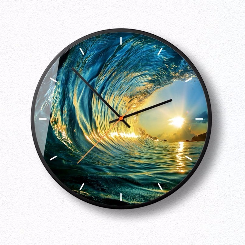 New 3D Wall Clock 12inch 14inch HD Wall Clock Modern Design Quartz Super Silent Precise Sweep Duvar Saati Large Size For Home in Wall Clocks from Home Garden