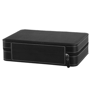 Image 5 - Portable Watch Box Organizer PU Leather Casket with Zipper Classic Style 10 Grids Multi Functional Bracelet Display Case