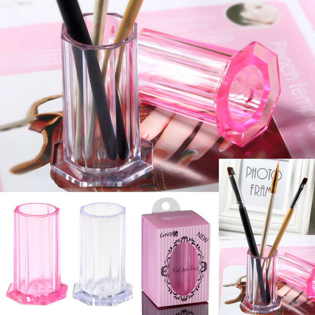 Yinikiz Professional 1pcs Clear Transparent Makeup Brushes Pen Holder Case Makeup Brush Set Make Up Tools Holder