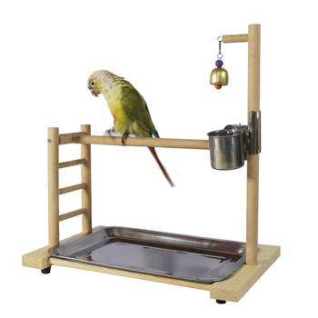 Birdcage Stands Parrot Play Gym Wood Conure Playground Bird Cage Stands Accessories Birdhouse Decor Table Top PlayStand 1