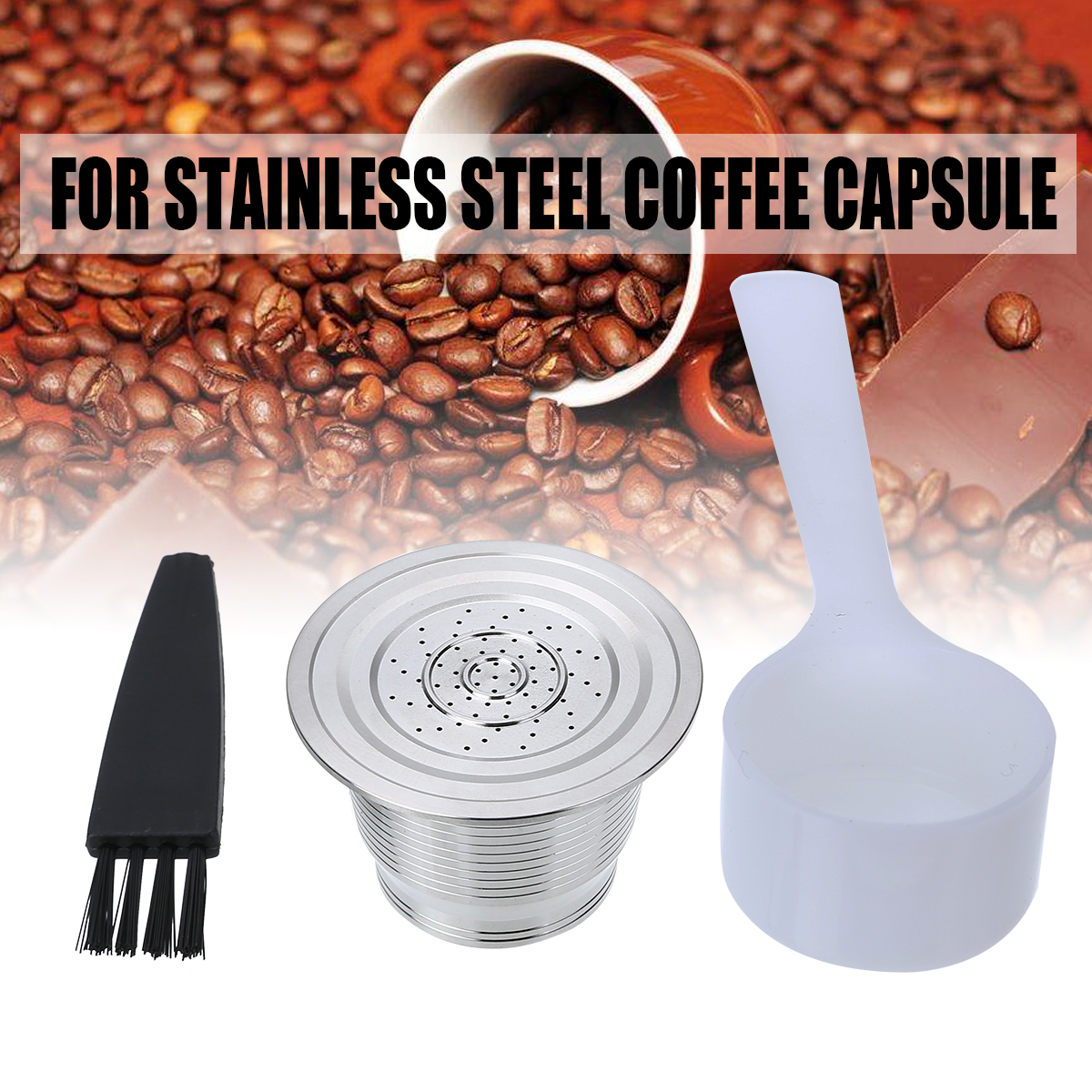 Accessories:  1set Coffee Filter Stainless Steel Reusable Refillable Filling Coffee Pod Filters Business Birthday Coffeeware Accessories - Martin's & Co