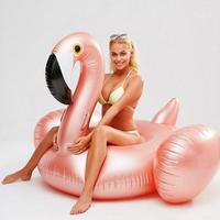 2019 Summer New Style Flamingo Shaped Floating Row Mount Inflatable Seat Swimming Ring Floating Ring Water Toy For Adult