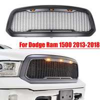 Racing Grille For Dodge ram 1500 2013 2018 Car Front Mesh Grille Shell with led light Car styling Auto Accessories