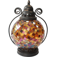 European Christmas Candle Holder Table Wrought Iron Glass Mosaic Kerzenhalter Holders  Wedding Decorations Home 50X113