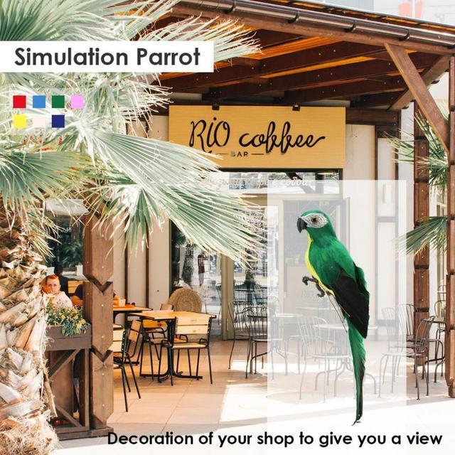 Creative Foam Feather Artificial Parrot Imitation Bird Model Home Ornament Simulation Animal Bird Garden Decoration Garden Tool 3
