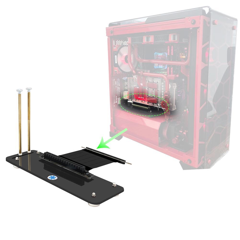 כרטיס גרפי נמוך / גבוה בפרופיל PCI-E כרטיס גרפי תמיכת Bracket תיקו מגנטי מחזיק הגעה חדשה (1)