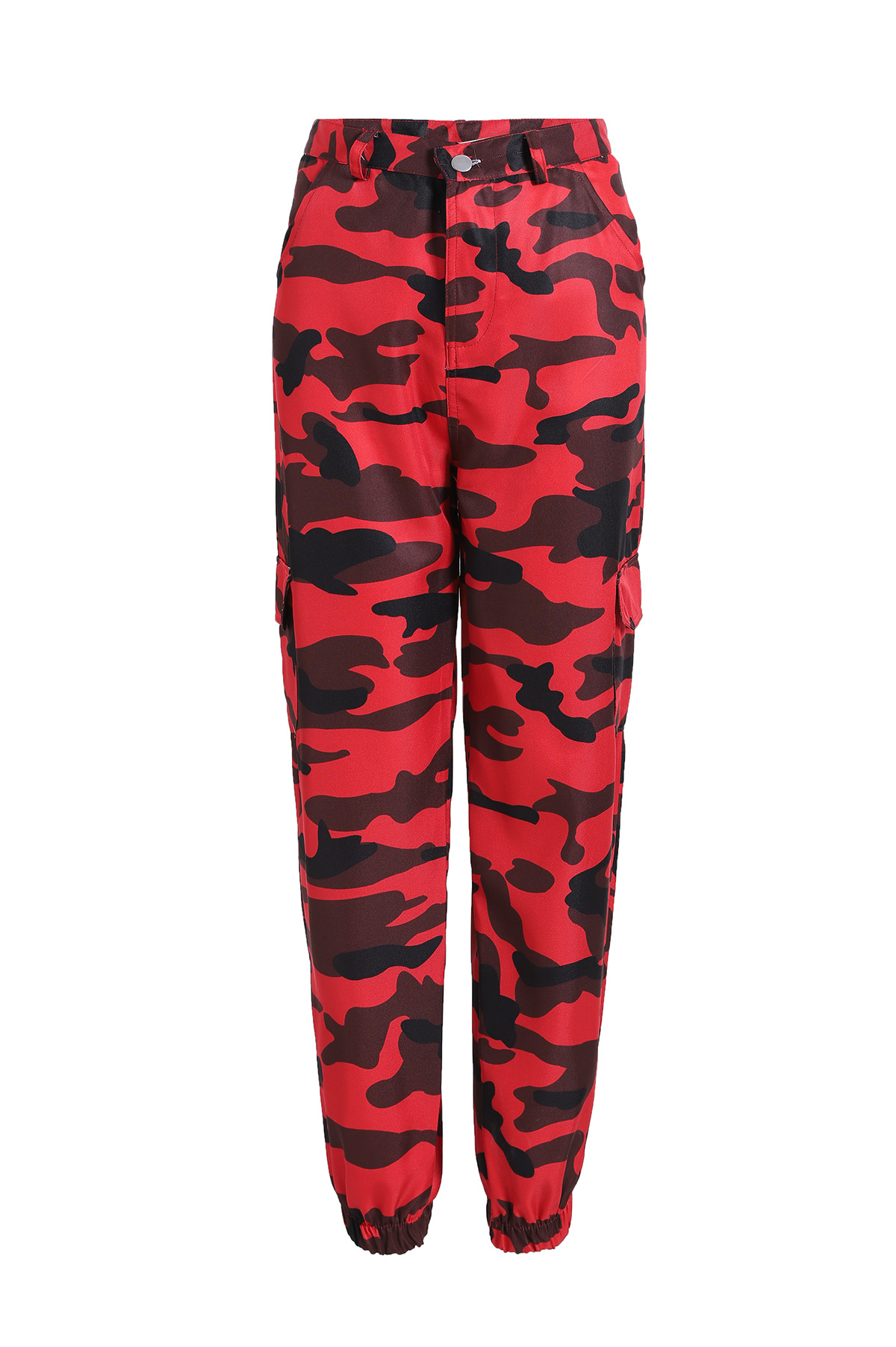New Women Autumn Fashion Camouflage Trousers Plus Size Loose Harem Pants High Quality Sweatpants Red Camo Running Jogging Pants in Running Pants from Sports Entertainment