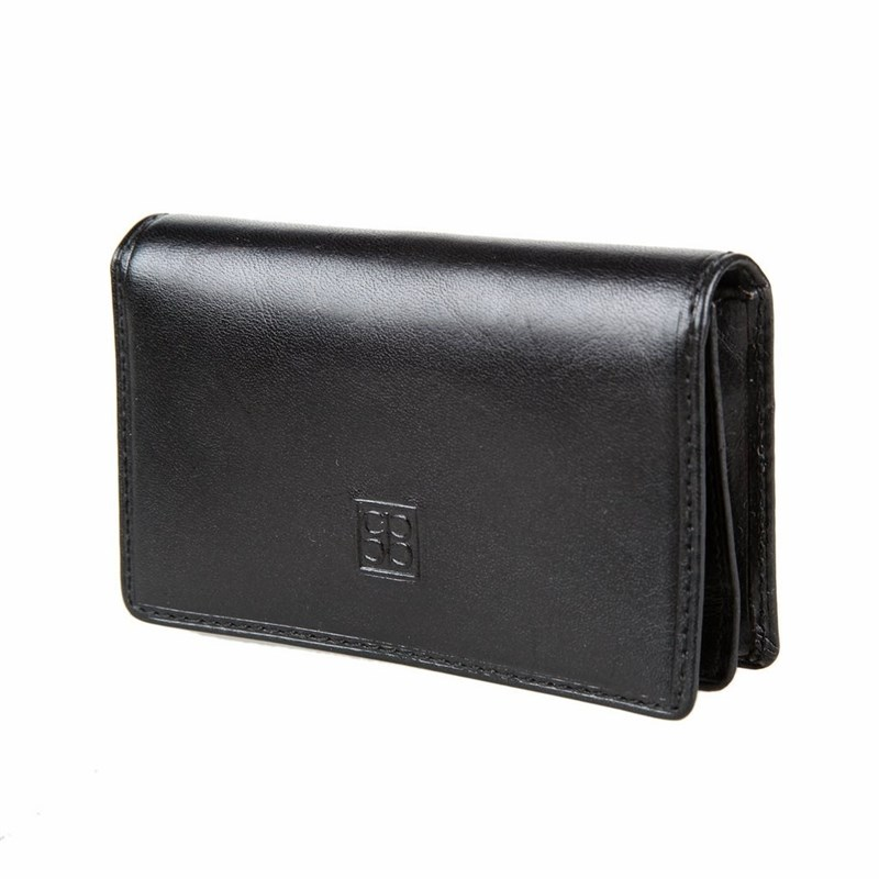 Business Card Holder Sergio Belotti 1440 Milano black large capacity card holder multifunctional wallet