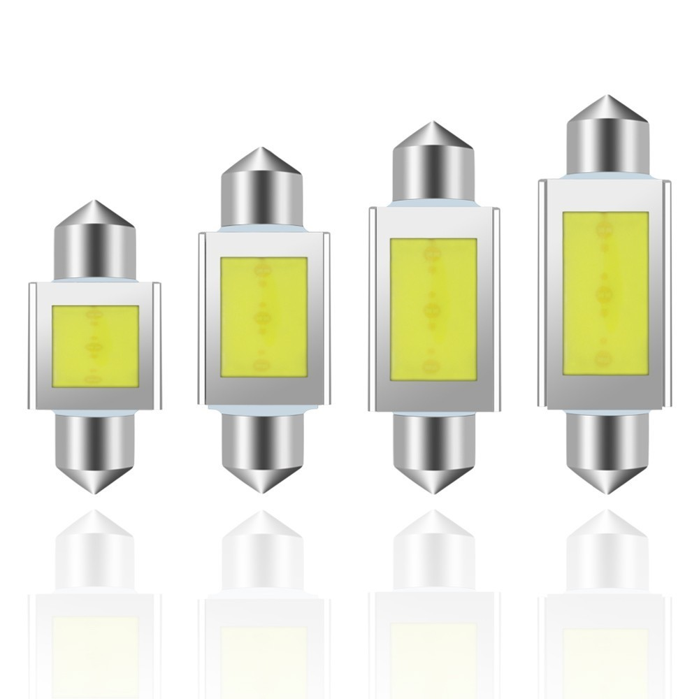 1 Piece C5W Cob Car Led Auto Automobiles Reading Dome Bulb Lamp Drl Lights Festoon Dome Door LED Lamp White in Signal Lamp from Automobiles Motorcycles