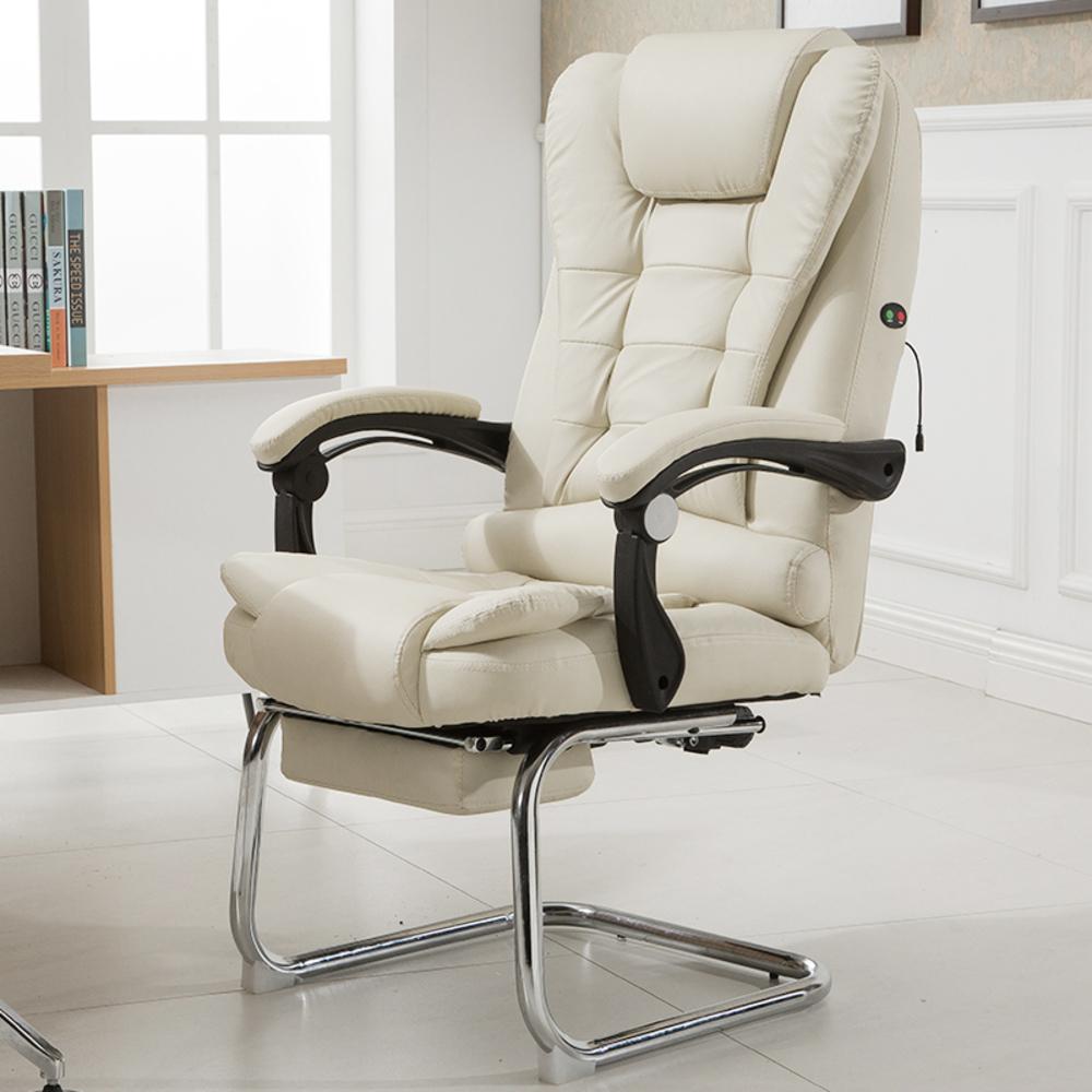 Купить с кэшбэком Work Computer Household Massage Bow Member Genuine Leather Can Lie Boss Office ergonomic furniture gaming study coffee Chair