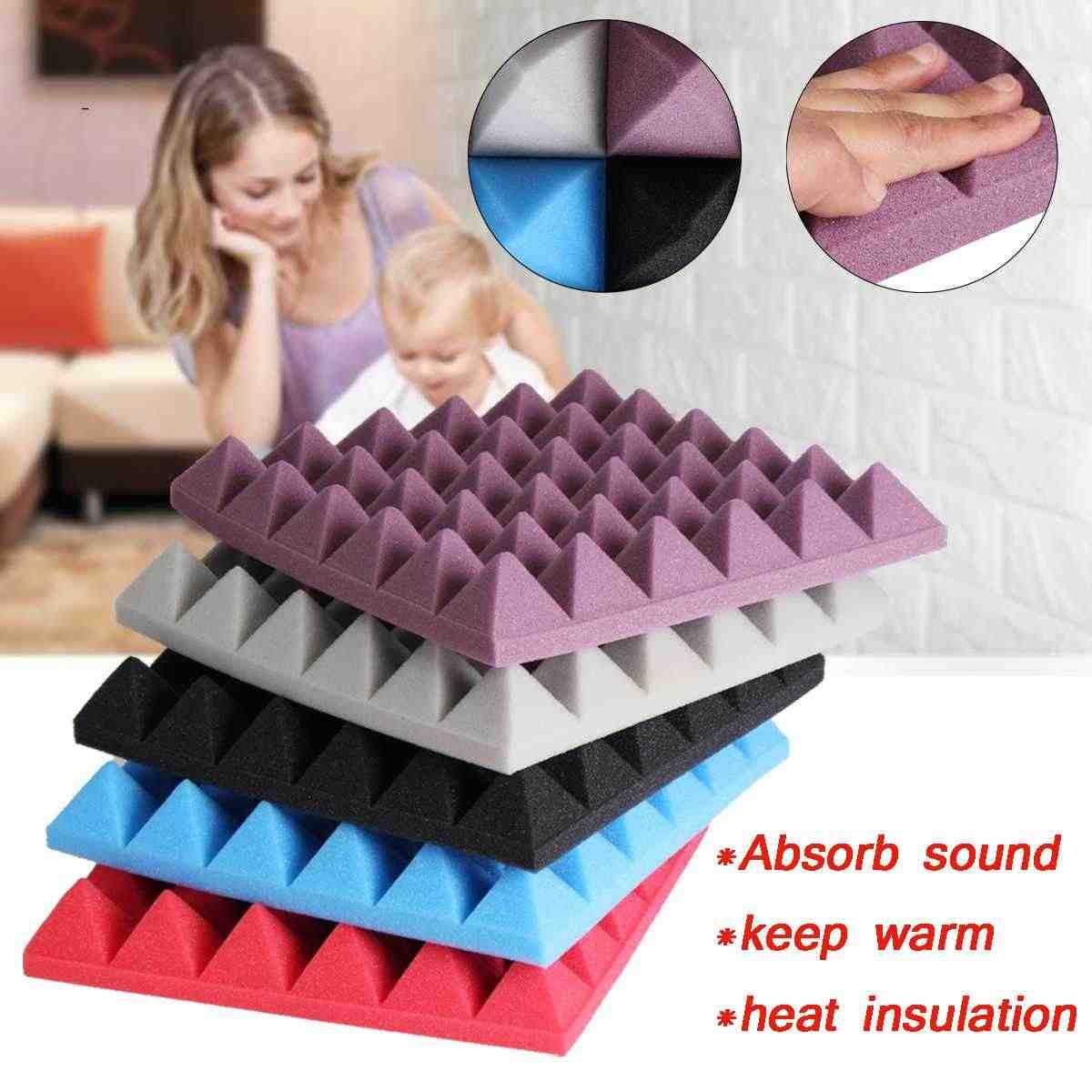 300X300X50mm o wysokiej gęstości o wysokiej gęstości o zmniejszonej palności z pianka Pyramid izolacji dźwiękowej nie należy składać Studio akustyczna pochłaniania dźwięku płomień