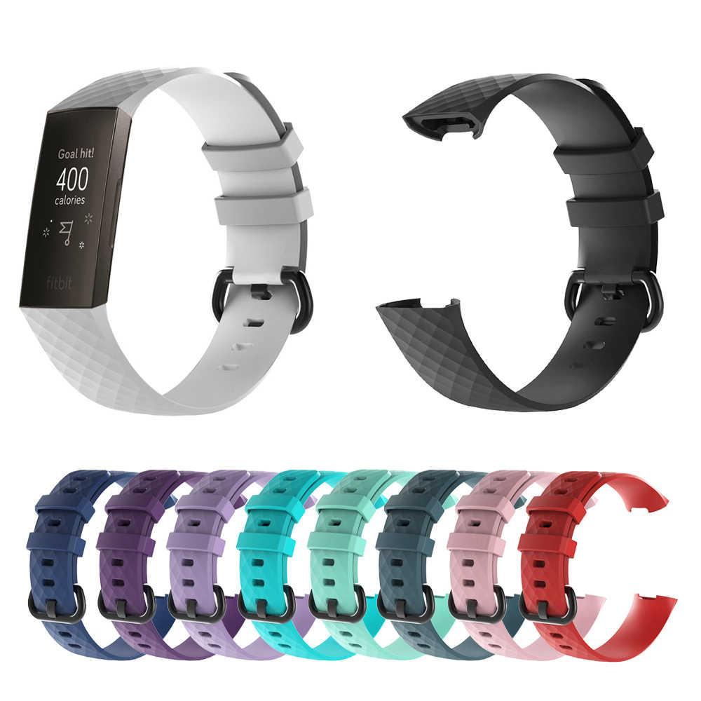 14 צבעים 5.5/7.1/8.7 סנטימטרים ספורט להקת עבור fit קצת תשלום 3 Charge3 להקת רך TPU חכם שעון רצועת צמיד