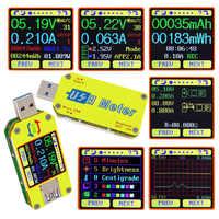 For UM34 UM34C USB 3.0 Cable Resistance Type-c Color Measure LCD Display Voltage Meter For APP Multifunctional Voltmeter Ammeter