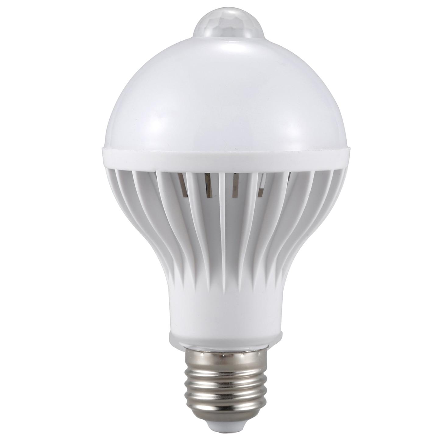 E27 Led Bulb Light Motion Sensor LED PIR Lamp Globe