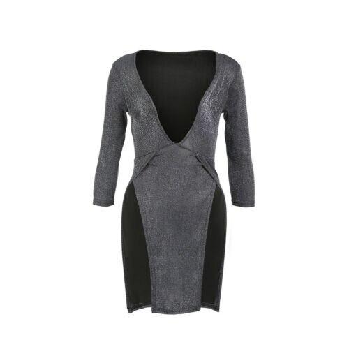 Gunmetal Double Slit Dress 5