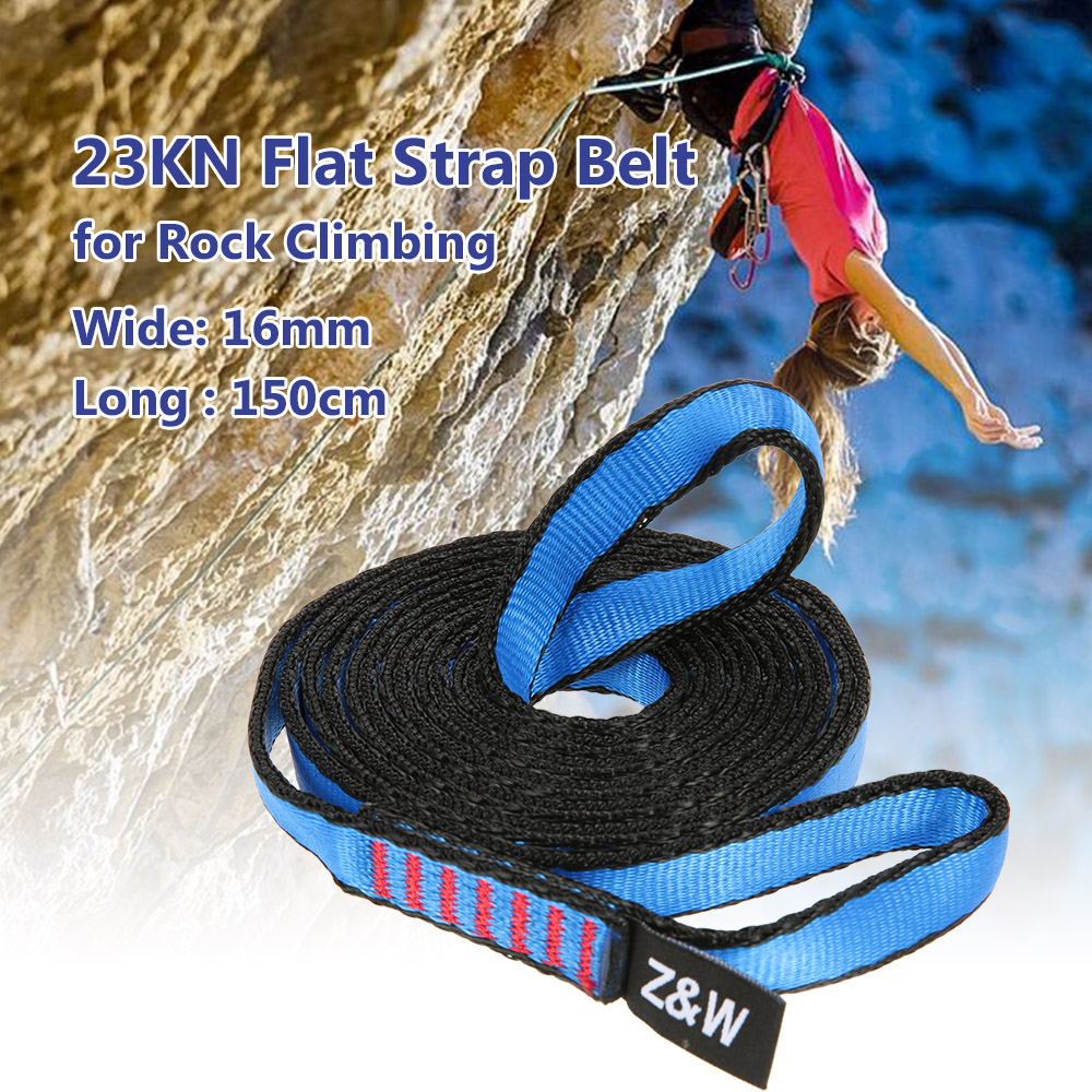 23KN 16mm 150cm 4 9ft Rope Runner Webbing Flat Strap Belt for Mountaineering Rock Climbing Caving Rappelling Rescue Engineering in Climbing Accessories from Sports Entertainment