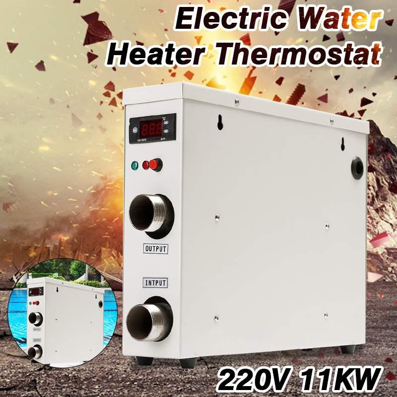 Nouveau 11KW 220 V AC électrique numérique chauffe-eau Thermostat pour piscine SPA bain à remous bain d'eau chauffage