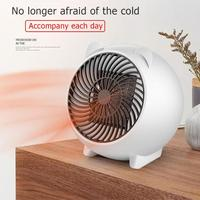 250W Mini Electric Heater Portable PTC Indoor Winter Warmer Warming Machine Desktop Heating Fan Stove Radiator for Home