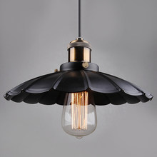 Black Vintage Retro Metal Style Light Lamp industrial Pendant Lighting nordic retro lights iron lampshade loft edison lamp(China)