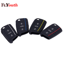 For Volkswagen Golf 7 mk7 Key Case Bag Cover Car Accessories Skoda Octavia A7 Silicone Portect Cases Car-styling 1Pc