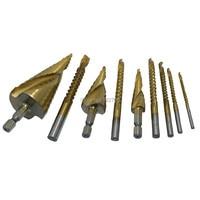 HSS Step Drill Sheet Metal Plastic Cone PVC Cutter 4-12mm 4-20mm 4-32mm + Saw Drill Bit Reamer Router 3mm 4mm 5mm 6mm 6.5mm 8mm