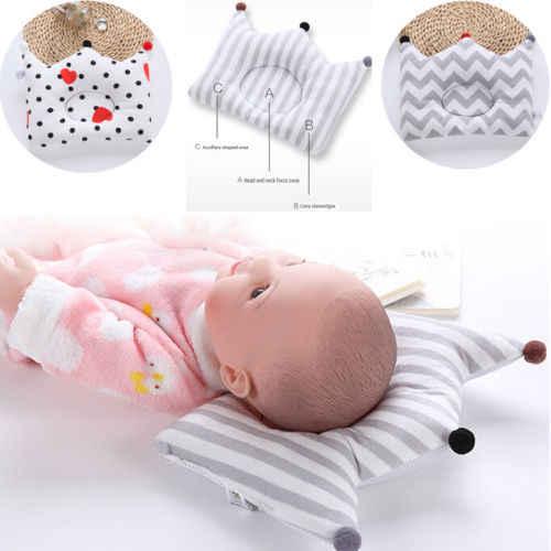 PUDCOCO новые Новорожденный ребенок подушка пены памяти позиционер Предотвращение плоской головкой против скатывания детские подушки