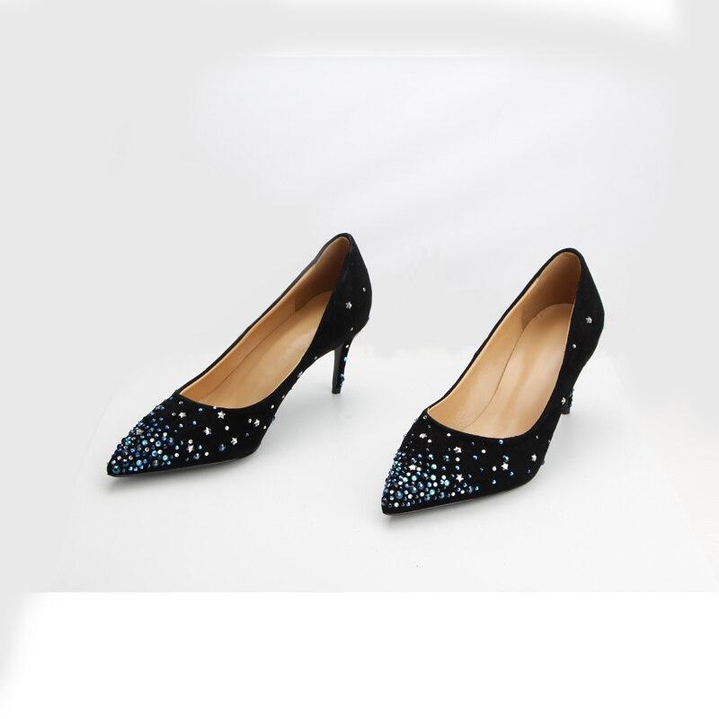 Hauts De Mariage Talons Pour Supérieure Qualité Chaussures Femmes En Cuir Véritable Style Nouveau Pompes q7XOpp