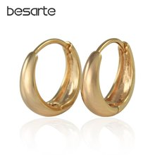 Женские серьги кольца с золотыми петельками