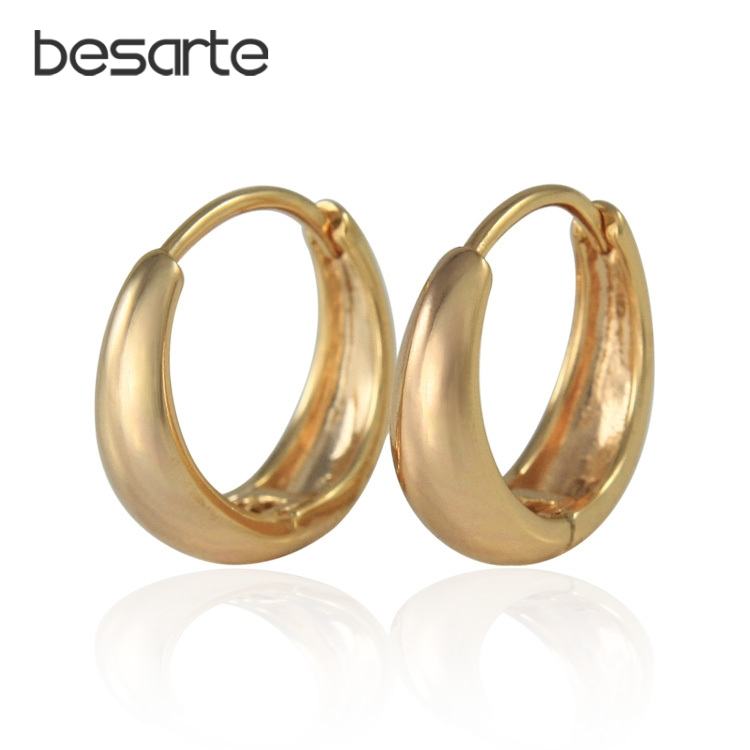 Gold Loops Hoop Earrings For Women Bijoux Brincos Ouro Ohrringe Oorbellen Boucle d'oreille Earings Fashion Jewelry Kupe E0204