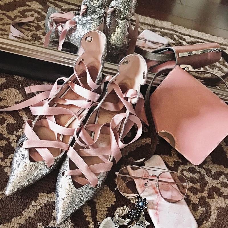 Pic D'été Haut Ronde Bling attaché Pointu Chaude Mode Pompes as As Orteils De Chaussures Pic Femme Talons 2018 Mariage Partie Croix Tipe 0xgq5wx4