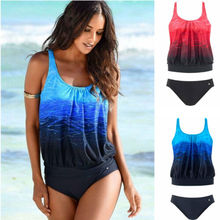 Two-piece Plus Size Push Up Padded Swimsuit