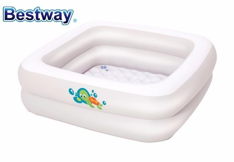 51116 Bestway 86x86x25Cm Double-Ring Baby Tub Wz Soft  Floor 34