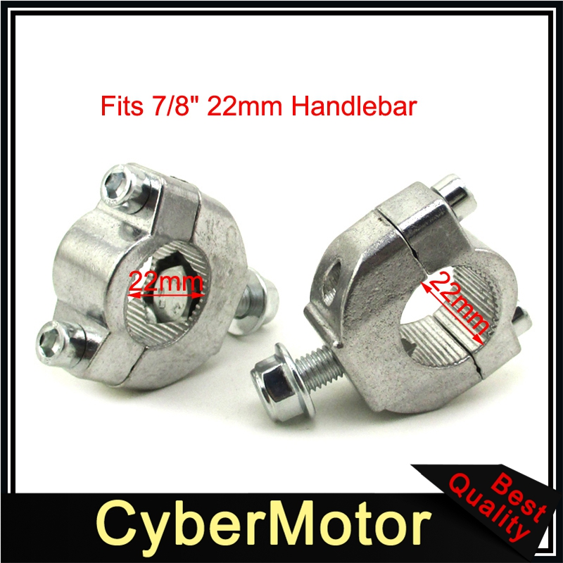 7/8 ''22mm Guidon Bar Risers Support de Montage Clamp Taper Pour 2 Course 47cc 49cc Mini Moto Dirt Bike moto