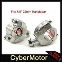 7/8 ris22 22mm guiador barra risers suporte de montagem braçadeira taper para 2 tempos 47cc 49cc mini moto bicicleta da sujeira motocicleta|22mm handlebar|bar riser|handlebar 22mm -